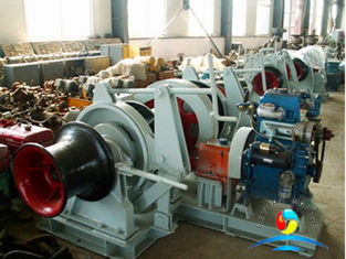 China Double Gypsies Horizontal Windlass , 32mm 261KN Electric Anchor Windlass  supplier