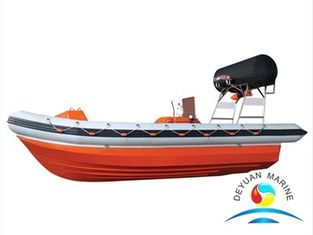 China SOLAS Fast Rescue Boats Fender Rigid Hull Inflatable Boat With 6-15 Persons supplier