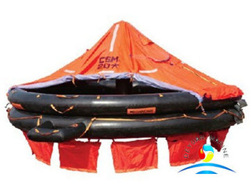 China Canopied Open Marine Life Saving Equipment Reversible Inflatable Life Rafts supplier