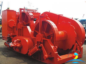 China 1000 KN High Speed Electric Winch With Water Fall Configuration supplier