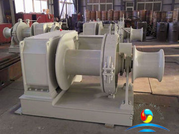 China Marine Mooring Motorized Winch , 10 Ton Electric Winch Driven By Electric Motor supplier