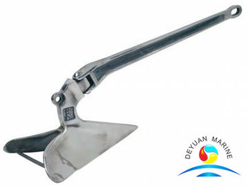 China Stainless Steel Plough Anchor , Steel Plate Welded Delta Flipper Anchor supplier