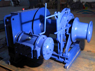 China 5T 50KN Marine Winch Electric Remote Control 500 Meters Drum Capacity supplier