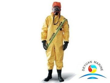 China Yellow Marine Fire Fighting Equipment Chemical Resistant Suits supplier