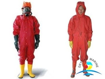 China PVC Marine Fire Fighting Equipment Fully Sealed Chemical Suit PVC Anti Chemical supplier