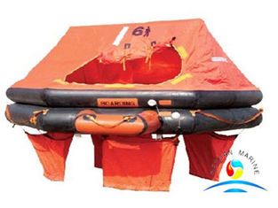 China Marine Rescue Equipment Inflatable Life Rafts 4 Person For Yacht supplier