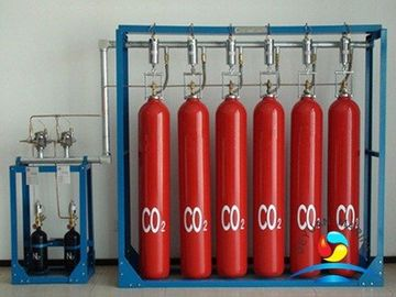 China Marine CO2 Fire Suppression Systems Dry Chemical Red RAL3000 supplier