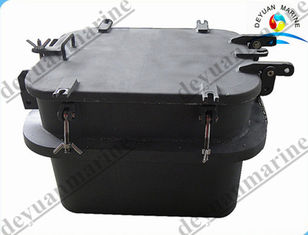 China Carbon Steel Small Outfitting Equipment Deck Hatch Cover Watertight Spray Paint supplier