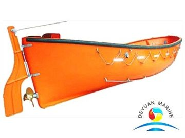 China Custom Orange Open Type Rescue Boat Equipment With 7-72 People supplier