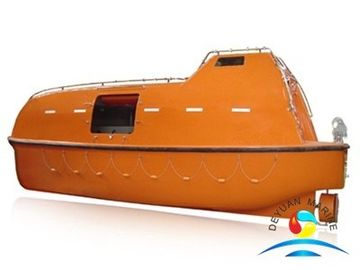 China Diesel Engine Totally Enclosed Lifeboat Fiberglass Marine Lifesaving Boat supplier