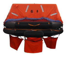 China EC Marine Life Saving Equipment 25 Persons Throw Overboard Inflatable Life Rafts supplier