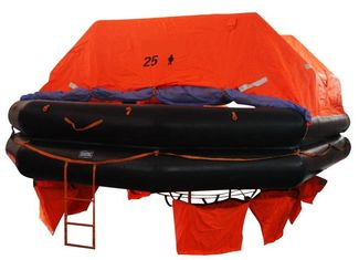 China CCS/EC Marine Life Saving Equipment 25 Persons Throw Overboard Inflatable Life Rafts supplier