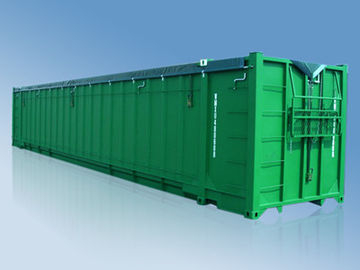 China 48' Soft Roof Open Top Waste Carrier Standard Shipping Container supplier