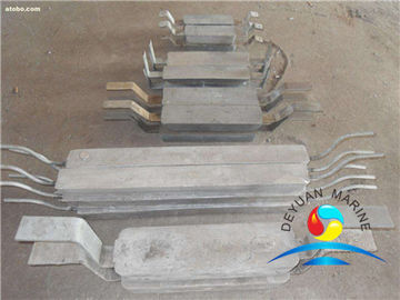 China Welding Type Zinc Anode for Hull(double iron foot) outfitting equipment zinc anode supplier