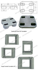 China Excellent Shipping Container Lead Fixed Parts Quadruple Flush Single Dovetail Foundation 55° supplier