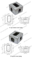 China ISO1161 Approval Marine Corner Casting Cargo Container Parts 178*162*118 supplier