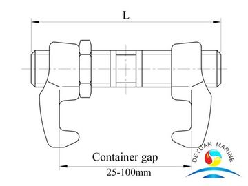 China Shipping Container Parts Loose Fitting In Hold Bridge Fittings supplier