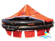 China Canopied Open Marine Life Saving Equipment Reversible Inflatable Life Rafts factory