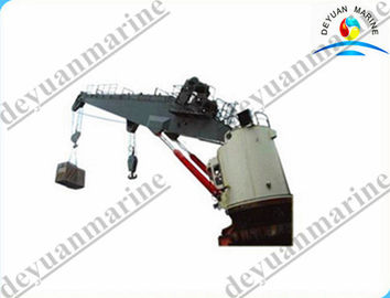 Hydraulic 50T Marine Cranes Knuckle Telescopic Boom For Boats