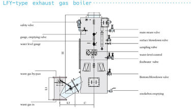 LZY - Type Marine Auxiliary Machinery Oil fired / Exhaust Gas Composite Boiler
