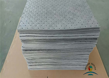 Industrial 100% Polypropylene Fuel And Universal Pad With Perforated Grey