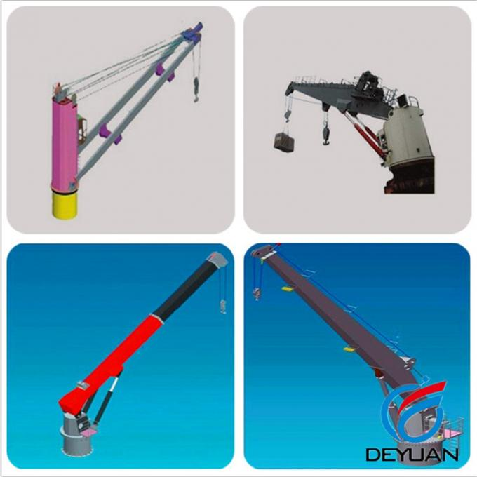 Customized Shipboard Crane , Remote Control Marine Deck Cranes