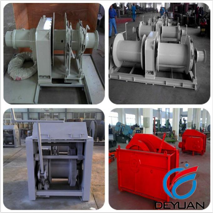Marine Mooring Motorized Winch , 10 Ton Electric Winch Driven By Electric Motor