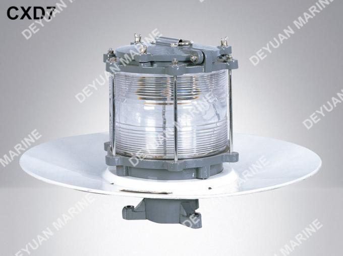 IP55 220V Marine Navigation Lights White Aluminium Morse Signal CXD7