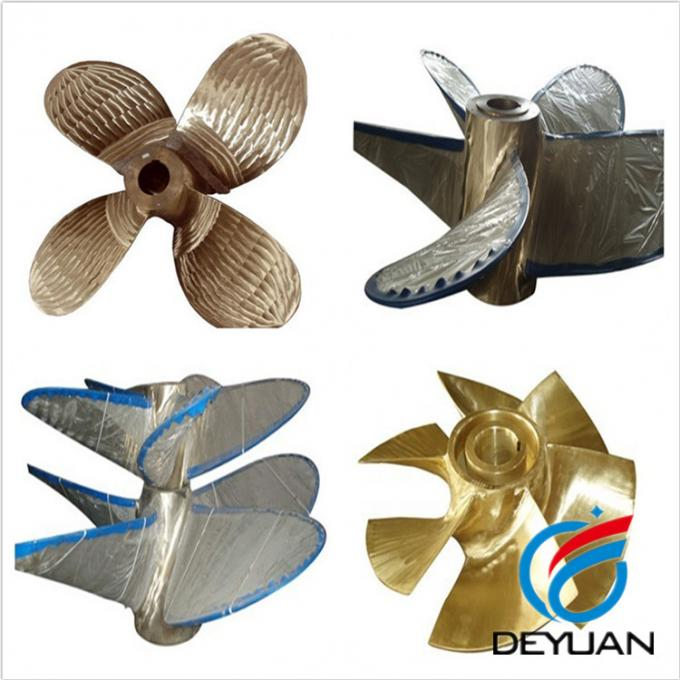 Marine Outboard Ship Propulsion Systems 4 Blade Fixed Pitch Propeller