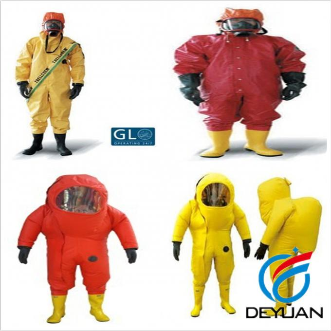 Yellow Marine Fire Fighting Equipment Chemical Resistant Suits