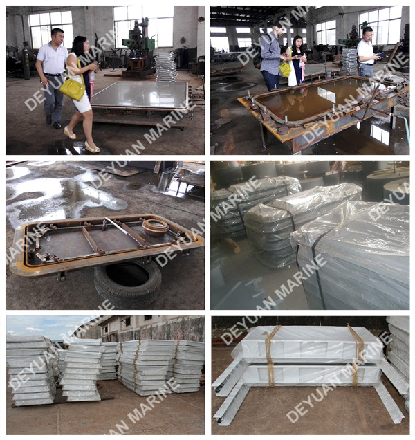 Locked Outfitting Equipment Aluminium Hollowed Cabin Door For Boat