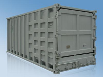 20' Rubbish Carrier Container Standard Shipping Container With Double Seals