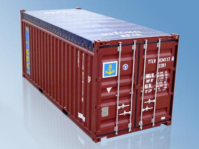 Red Soft Roof Open Top Dry Cargo Steel Standard Shipping Container 20 Foot