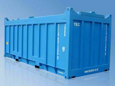 Hard Roof Open Top Dry Bulk Container , 20 Feet Shipping Container