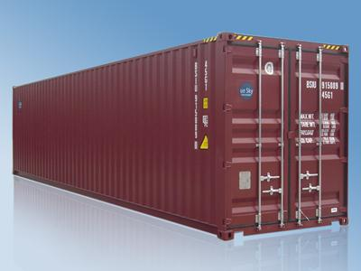 Secure Watertight 40 Ft Shipping Container / Cargo Container , ISO Standards