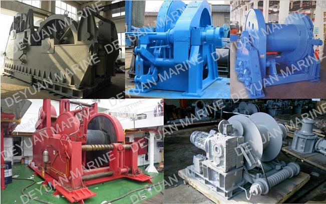 With CCS ABS EC BV Certificates Marine Electric Hydraulic Tugger Winch For Ship Boat