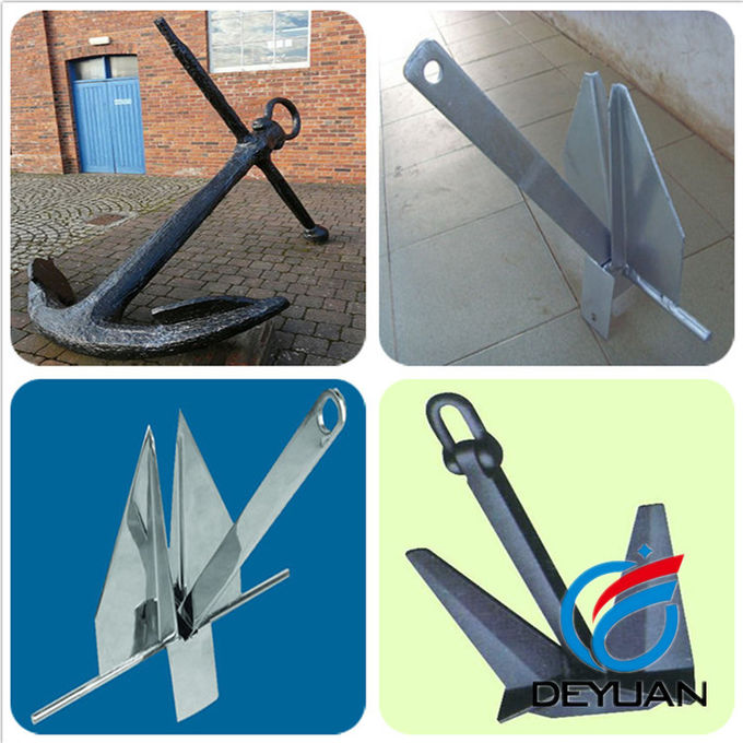 Stainless Steel Plough Anchor , Steel Plate Welded Delta Flipper Anchor