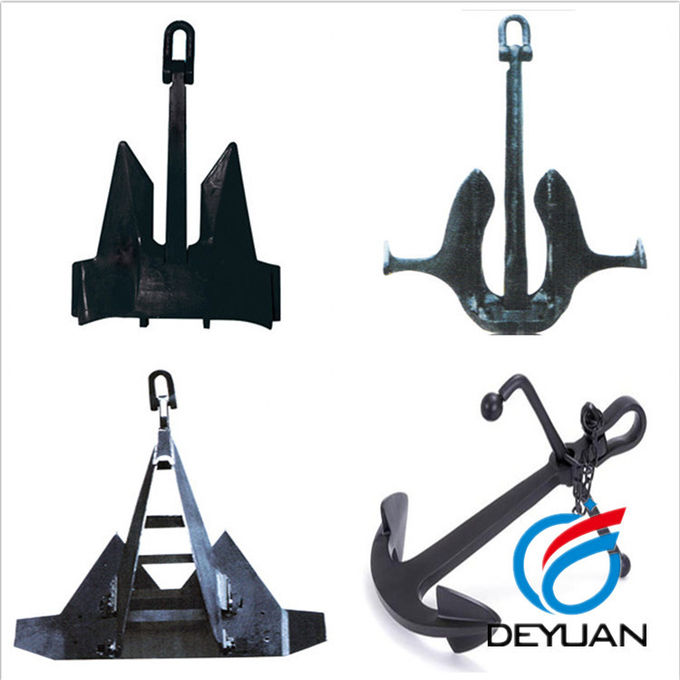 Malleable Steel Marine Mooring Equipment Hall Anchor Type A / B / C
