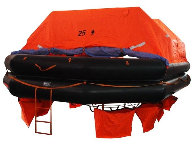 4 Man  Marine Life Saving Equipment Throw-Overboard Inflatable Liferaft